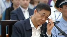 Bo Xilai am letzten Verhandlungstag.