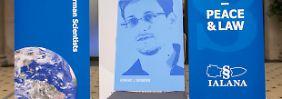 Der Stuhl blieb frei für Edward Snowden.