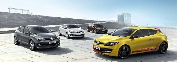 Renault verpasst dem Megane ein neues Gesicht.