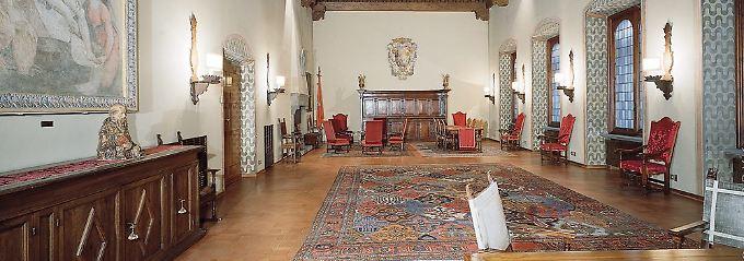 Viel Prunk im Inneren des Monte-Paschi-Hauptsitzes in Siena.