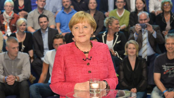 "Merkel in der ""Wahlarena""."