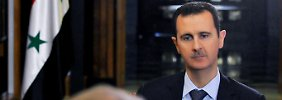 Assad bei einem Interview in Damaskus.