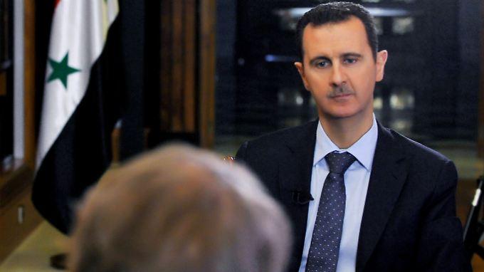 Assad bei einem Interview in Damaskus.