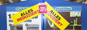 Ausverkauf nach Pleite: Praktiker-Filialen starten letzte Rabatt-Offensive