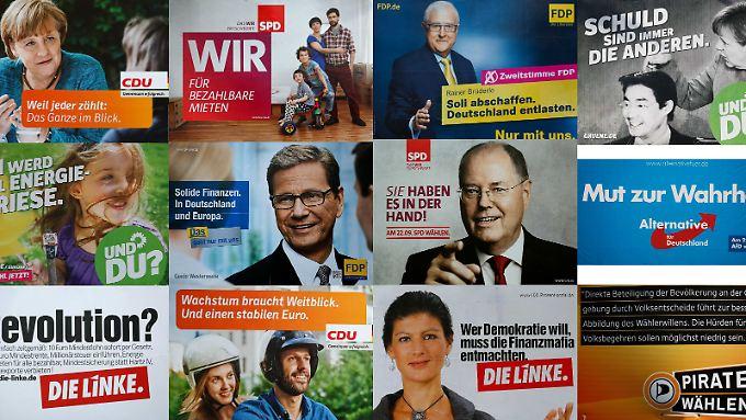 Ab fünf Prozent fängt das Bundestagsleben an - für alle Parteien im Wahlkampf.