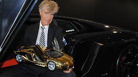 Die Idee für den Gold-Flitzer hatte ein Deutscher, Robert Gülpen.
