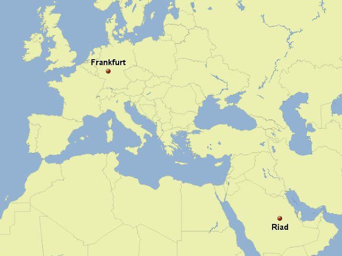 Von Frankfurt am Main nach Riad: Ein Routineflug für die Crew.