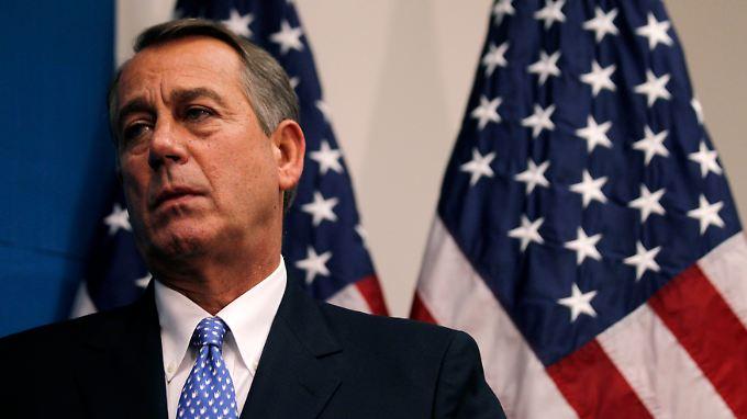 Die Republikaner unter John Boehner wollen einer kurzfristigen Anhebung der Schuldengrenze zustimmen.