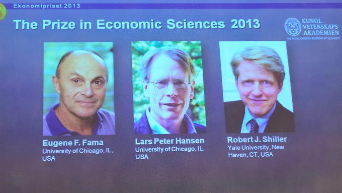 Analyse von Aktienkursen: Wirtschaftsnobelpreis geht an drei US-Ökonomen