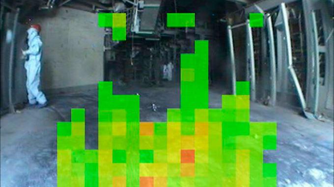 Eine Kamera, die auf die harte Gamma-Strahlung reagiert, hat dieses Foto im Reaktor 3 gemacht.