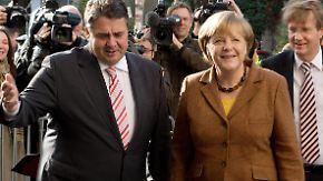 """Annäherung in kleinen Schritten: """"Ordentliche Brocken"""" liegen noch vor SPD und Union"""