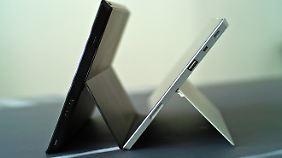 Die Klapp-Ständer der Surface-Geräte bieten jetzt auch einen zweiten, flacheren Winkel.
