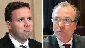 Robert Tönnies (l) und sein Onkel Clemens Tönnies zeigen sich unversöhnlich.