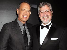 Vielleicht können sich Hanks (l.) und Phillips ja schon bald auch über einen Oscar freuen.