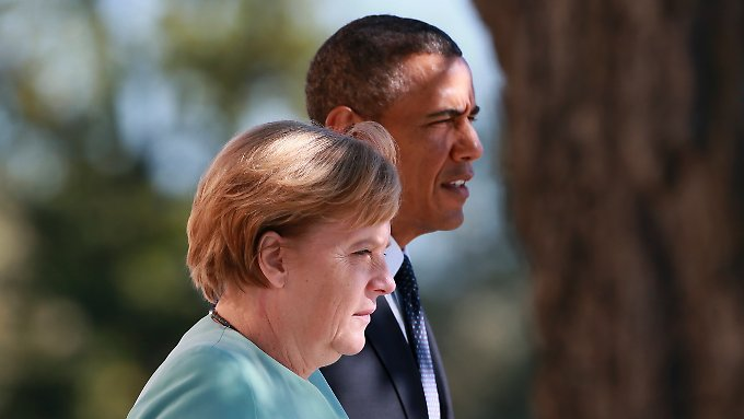 """Bundeskanzlerin Merkel und US-Präsident Obama beim G-20-Gipfel in St. Petersburg. Für Deutschland ist das gute Verhältnis zu den USA """"von überragender Bedeutung""""."""