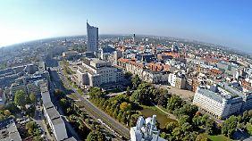 Blick auf Leipzig.