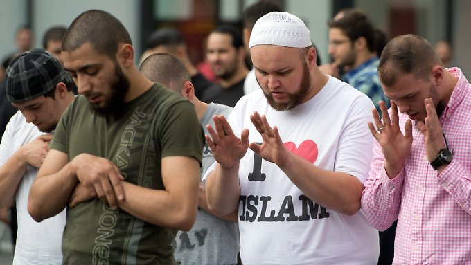 Anhänger des radikal-islamischen Predigers Pierre Vogel demonstrierten Anfang November in Frankfurt am Main.