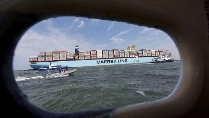 Die 400 Meter lange Maersk MC-Kinney Moller erreicht im August Rotterdam.