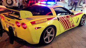 Die alte Feuerwehr-Corvette war keine Schönheit.