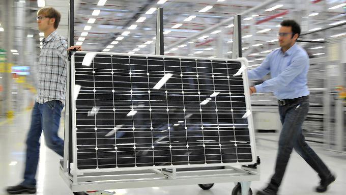 So sieht ein Solarmodul von Bosch Solar aus.