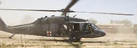 Ein Blackhawk Medevac der US-Armee beim Einsatz in Afghanistan.