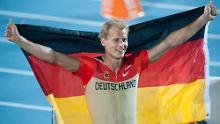 Vom Nobody zum Europameister: Christian Reif nach seinem Triumph.