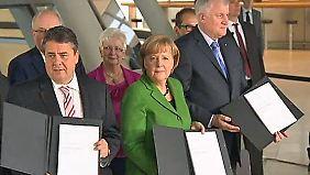 Der Koalitionsvertrag steht: Parteichefs einigen sich auf den letzten Metern