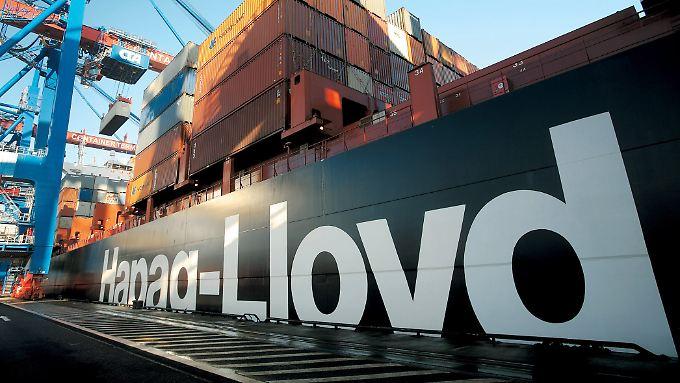 Große Containerschiffe, aber bei weitem nicht die größten: Hapag-Lloyd