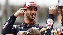 """""""Ich bin nicht darauf eingestellt, dass er mir den Arsch versohlt."""" Sagt Daniel Ricciardo über seinen Kollegen Sebastian Vettel."""