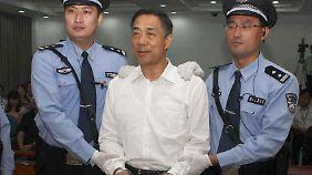 Der ehemals hohe Funktionär Bi Xilai wurde zu lebenslanger Haft verurteilt.