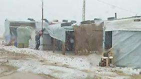 Der Kälte schutzlos ausgeliefert: Winter setzt syrischen Flüchtlingen zu