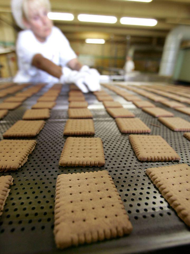 Kekse werden industriell hergestellt.