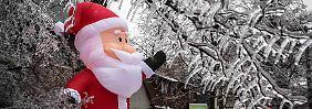 """Eisstürme in Kanada, Nässe in Deutschland: Orkan """"Dirk"""" bläst weiße Weihnachten fort"""