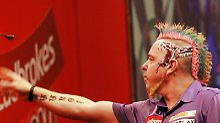 Peter Wright ist der bunte Vogel der Darts-Welt.