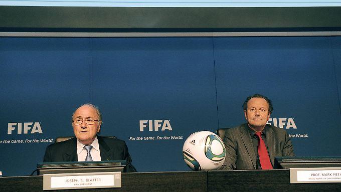 Geschiedene Leute: Noch-Fifa-Boss Joseph Blatter und sein gescheiterter Reformer Mark Pieth.