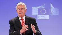 Die Sepa-Umstellung läuft nicht schnell genug: Michel Barnier (Archivbild).