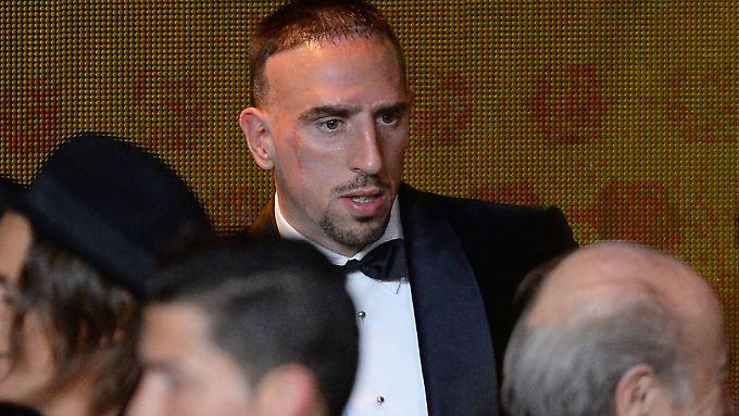 """""""Ich bin froh, dass das Thema jetzt vom Tisch ist"""": Franck Ribéry in Zürich."""