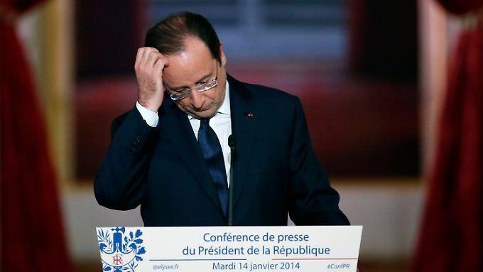 Pressekonferenz in Paris: Hollande kündigt Reformen an und schweigt zu Liebesleben
