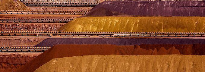 Großer Hunger nach Rohstoffen: Eisenerzberge in Parker Point, Westaustralien.
