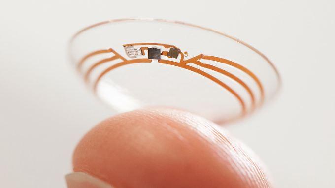 Googles smarte Kontaktlinse soll eines Tages Diabetikern das Leben erleichtern.