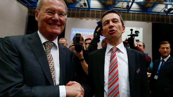"""Henkel und Lucke wollen gegen die """"Schmalspurpolitik der Altparteien"""" antreten."""