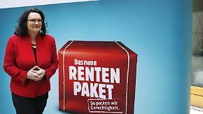 Teure PR-Kampagne: Nahles Rentenwerbung sorgt für Ärger im Bundestag