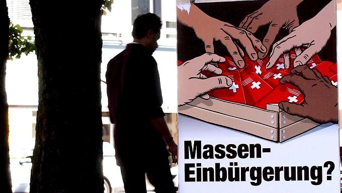 Ärger mit der EU programmiert: Schweizer stimmen für Ausländer-Stopp