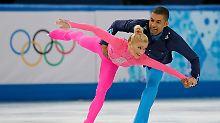 Gut, aber nicht gut genug für den ersten Platz: Aljona Savchenko und Robin Szolkowy.