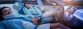 Völlig entspannt sollen die Passagiere nach der Reise dem Rinspeed Xchange entsteigen.