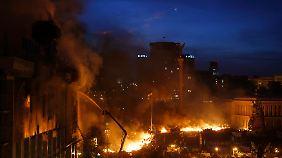 Auf dem Unabhängigkeitsplatz in Kiew.