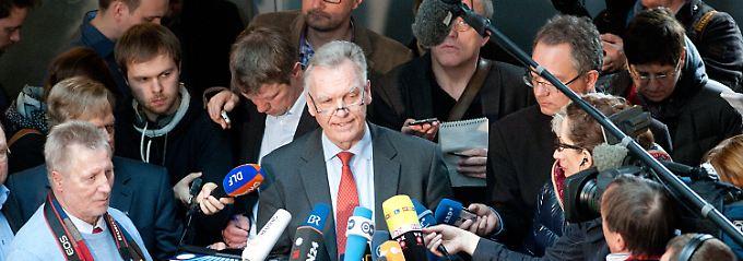 BKA-Chef Jörg Ziercke sagte am Vormittag vor dem Innenausschuss aus.