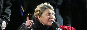 Video: Masse auf dem Maidan feiert Julia Timoschenko