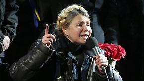 Opposition in Kiew gespalten: Masse auf dem Maidan feiert Julia Timoschenko