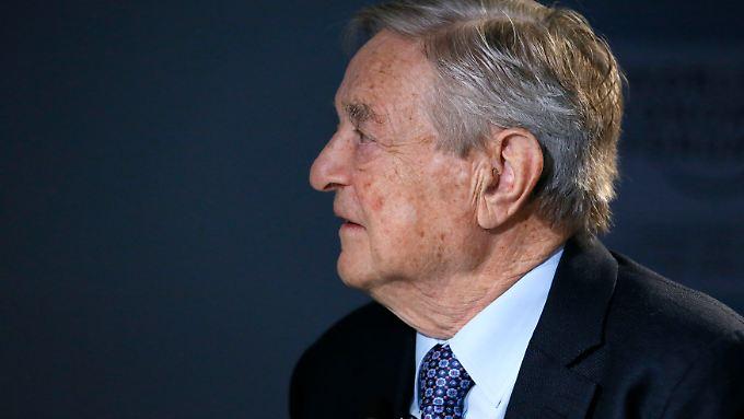 Sieht schwarz: George Soros.
